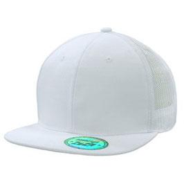 Moderne Flatcap mit Snap back pro sticker komplett weiß