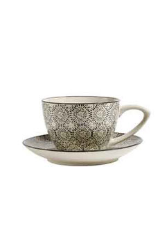 Tasse mit Untertasse  Blossum Fluff  von Nordal