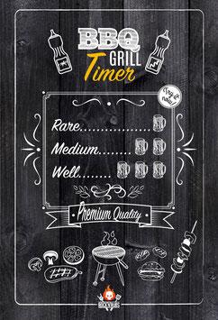 Metallschild BBQ Grill Timer
