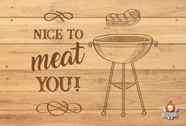 Metallschild Nice to meat you