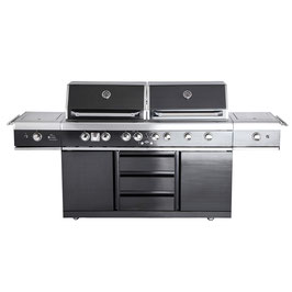 All´Grill Gasgrill Extreme Light schwarz