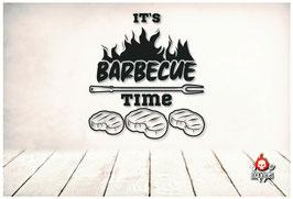 Metallschild BBQ Time