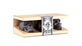 Totenkopf Kohle, 3er Geschenkbox