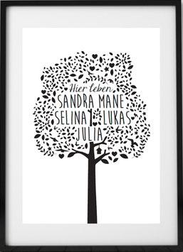 Der Family Print Baum!