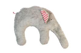 """Bio Kuschelkissen / Nackenkissen  """"Elefant"""" grau"""