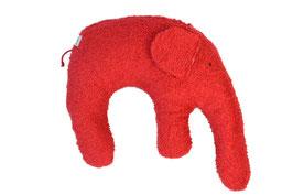 """Bio Kuschelkissen / Nackenkissen  """"Elefant"""" rot"""
