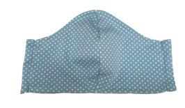 """Mundbedeckung/Behelfsmaske, """"Dots/Punkte"""" hellblau (Kinder & Erwachsene) bei PAT & PATTY"""