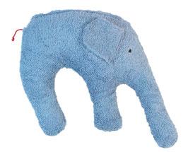 """Bio Kuschelkissen / Nackenkissen """"Elefant"""" blau"""