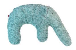 """Bio Kuschelkissen / Nackenkissen  """"Elefant"""" eisblau"""