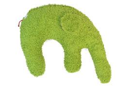 """Bio Kuschelkissen / Nackenkissen  """"Elefant"""" grün"""