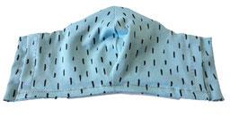 """Mundbedeckung/Behelfsmaske, """"Tropfen"""" eisblau (Kinder & Erwachsene) bei PAT & PATTY"""