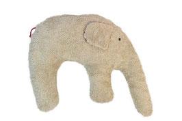 "Bio Kuschelkissen / Nackenkissen  ""Elefant"" hellbraun"