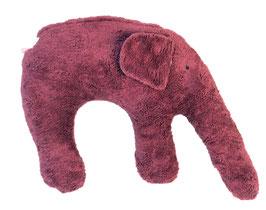 """Bio Kuschelkissen / Nackenkissen  """"Elefant"""" brommbeer"""