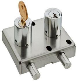 Verrou double avec échange de clé pour interverrouillage AGA1207