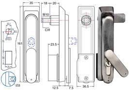 Poignée escamotable inox AGA 6050