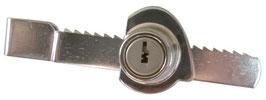 Vitrine : Verrou à crémaillère pour vitres coulissantes AGA 354