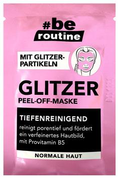 #be routine Glitzer Peel-Off-Maske