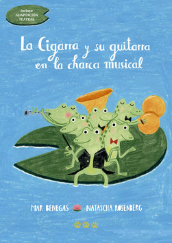 LA CIGARRA Y SU GUITARRA EN LA CHARCA MUSICAL