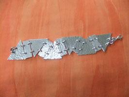 """Alu-Armband """"Mittelalter""""/Armschmuck aus Aluminium"""