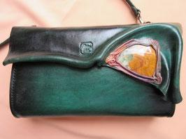 """Lederhandtasche """"flaschengrün-groß"""""""