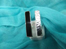 Ring, Silberring Onyx