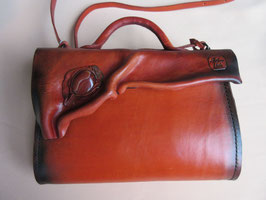 "Ledertasche ""orange"""