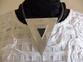 Alukette Dreiecke mit Filz und Nappalederband