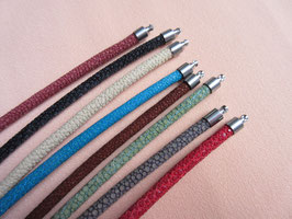 Wechselschließen Collier, Wechselkette, Rochenleder 4mm