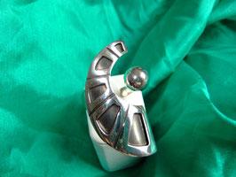 """Ring """"Sichel"""" Silberring Sterlingsilber massiv oxidiert"""