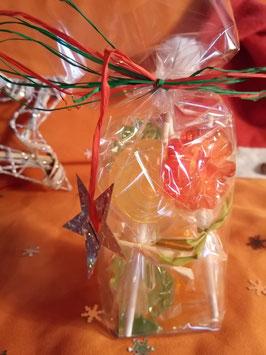 Ballotin de sucettes aux fruits