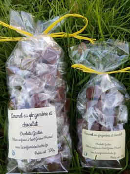 Caramel au gingembre et chocolat