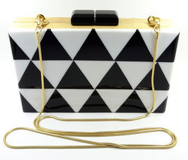 Black&White Triangle Clutch Bag