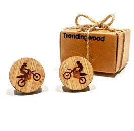 Gemelo de madera, Motocross