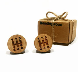 Gemelo de madera, Palanca de cambio