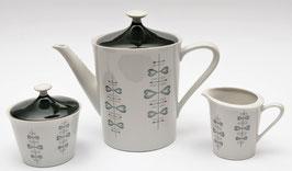 Retro koffiepot met melkkannetje en suikerpot van Bavaria