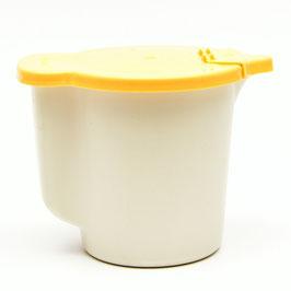 Melkkannetje Tupperware geel/crème