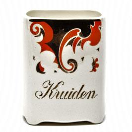Kruidenpotje 'Kruiden' decor Faust van Societe Ceramique