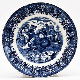 """Wandbord """"Chasse au Lion"""" van Societe Ceramique"""