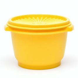 Tupperware voorraaddoos donkergeel met sterdeksel