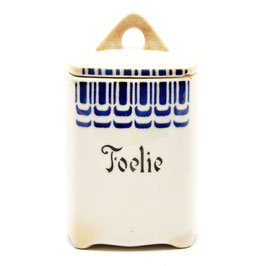"""Voorraadpotje """"Foelie'' decor SB 69 8 van Societe Ceramique"""