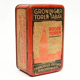 Blik Groninger Toren-Tabak - Lieftinck Groningen
