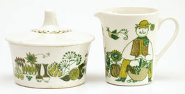 Melkkannetje en suikerpot Figgjo Flint Turi Design Market