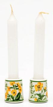 Set van 2 kaarsenstandaardjes 'boterbloem'