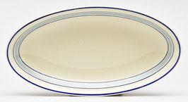 Vleeswarenschaaltje blauw/crème van Societe Ceramique