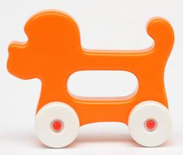 Rammelaar oranje hondje