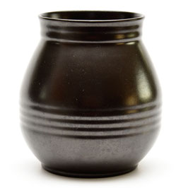 Art-deco vaas of bloempot mat-zwart