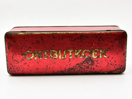 Blik Ontbijtkoek rood met gouden letters #2