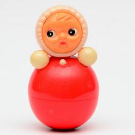 Vintage tuimelaar meisje rood