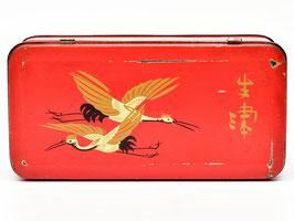 Blik rood De Gruyter met kraanvogels