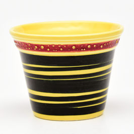 Bloempotje geel/zwart/rood van Societe Ceramique